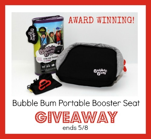 Enter to win a Bubble Bum Booster Seat #Giveway ends 5/8