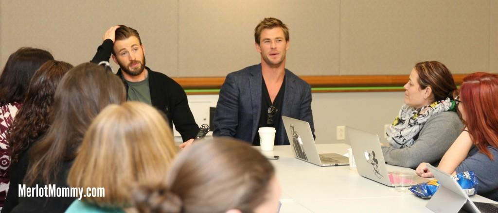Exclusive Interviews: Chris Hemsworth and Chris Evans Bring the Thunder #AvengersAgeofUltron #AvengersEvent