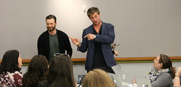 Exclusive Interviews: Chris Hemsworth and Chris Evans Bring the Thunder