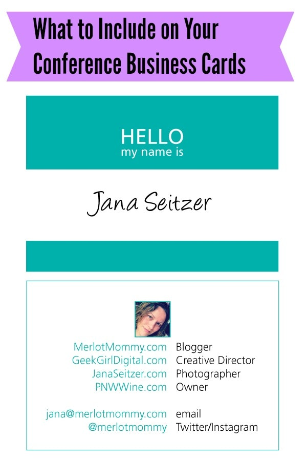 What to Include on Your Blogging Conference Business Cards #Blogging #SocialMedia
