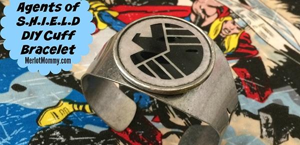 Agents of S.H.I.E.L.D DIY Cuff Bracelet