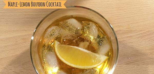 Maple-Lemon Bourbon Cocktail