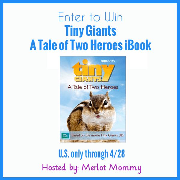 Enter to Win a Tiny Giants A Tale of Two Heroes iBook #Giveaway ends 4/28