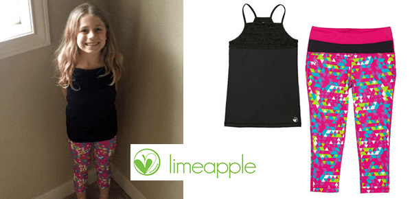 Limeapple Girl's Activewear Review and #Giveaway ends 4/26