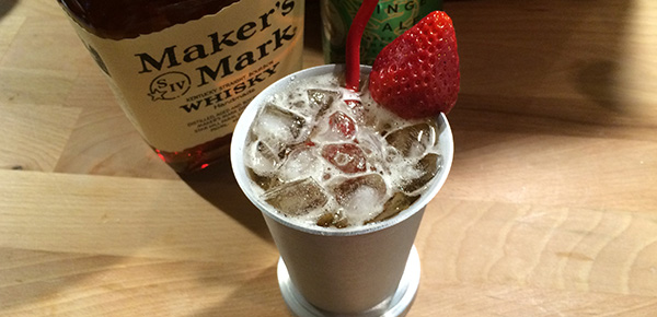 Strawberry Ginger Julep #JulepOff #MakersMark