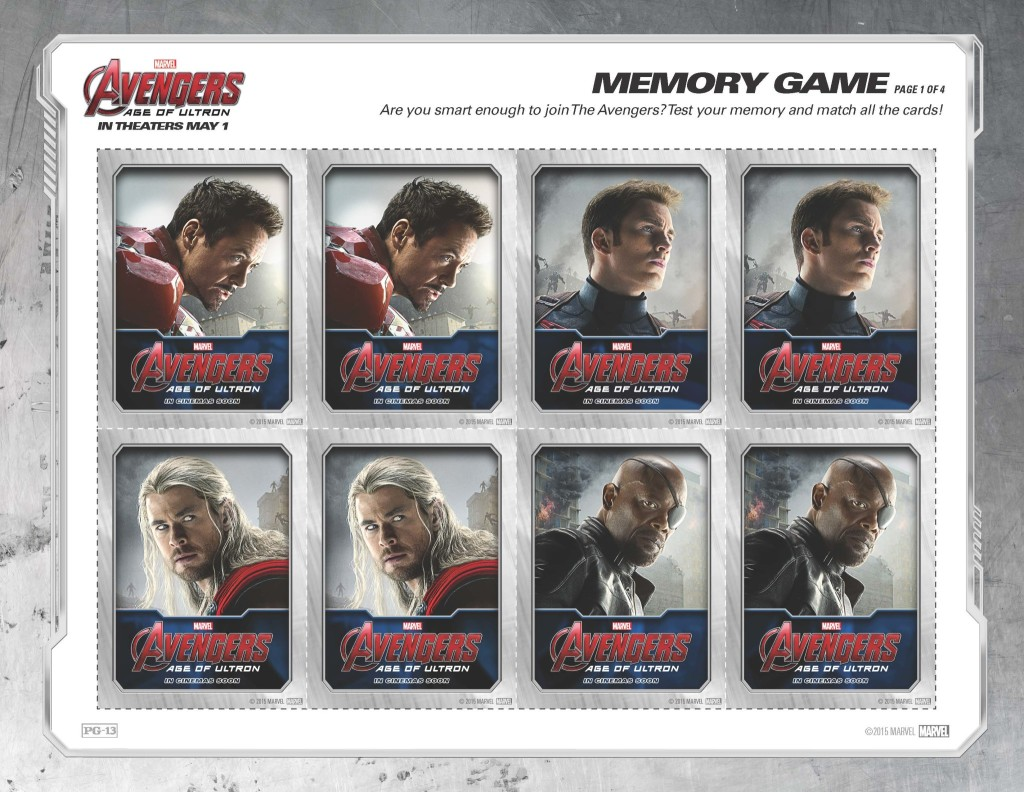 Free Avengers: Age of Ultron Memory Game #Avengers #AvengersAgeofUltron #AvengersEvent