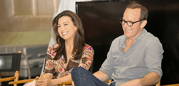 #AgentsofSHIELD Exclusive Interviews with Clark Gregg and Ming-Na Wen