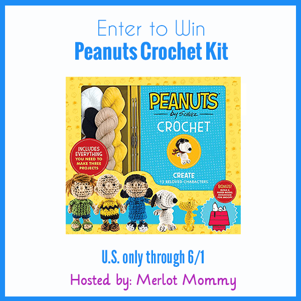 Enter to Win Peanuts Crochet Kit #Giveaway ends 6/1