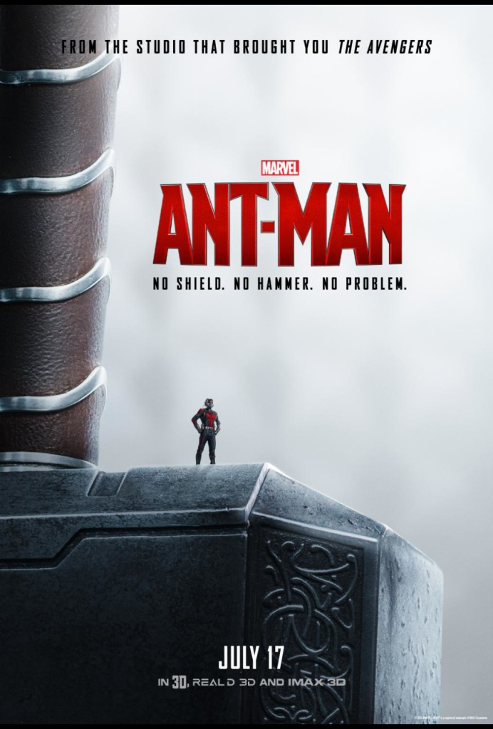 No Shield? No Hammer? No Armor? No Problem. New Marvel Ant-Man Poster! #AntMan #AntManEvent