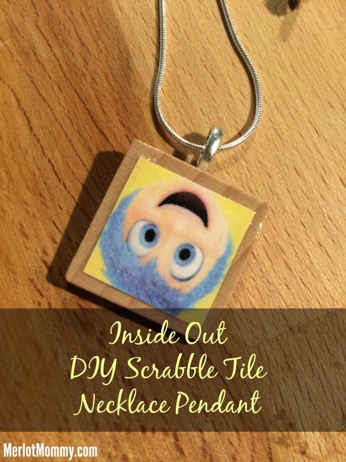 Inside Out DIY Scrabble Tile Necklace Pendant #InsideOut #InsideOutEvent