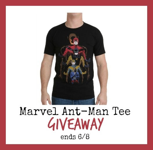 Enter to win a Marvel Ant-Man T-Shirt #Giveaway ends 6/8
