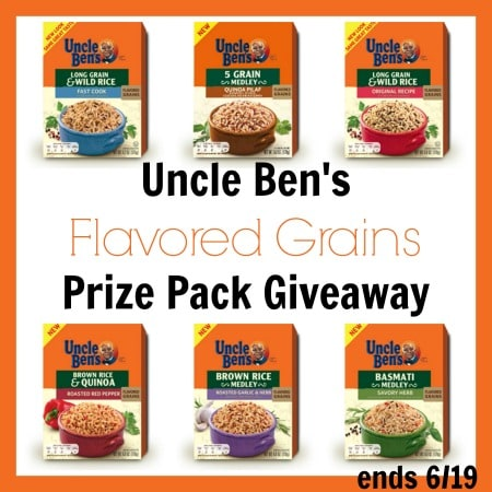Enter the Uncle Ben's Rice Flavored Grains Prize Pack Giveaway ends 6/19