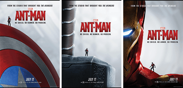 No Shield? No Hammer? No Armor? No Problem. New Marvel Ant-Man Posters! #AntMan #AntManEvent