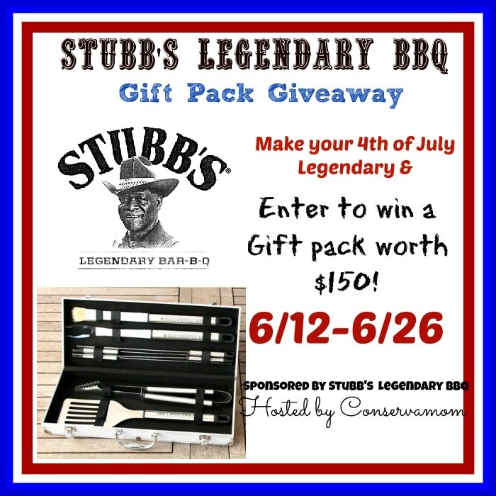 Enter to win the Stubbs Legendary BBQ Giveaway ends 6/26
