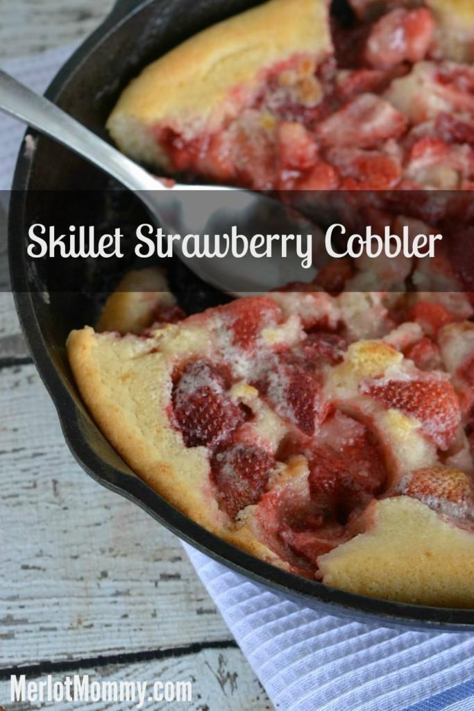 Easy Summer Skillet Strawberry Cobbler Recipe