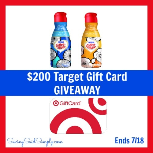 Enter to win a $200 Target Gift Card #Giveaway ends 7/18
