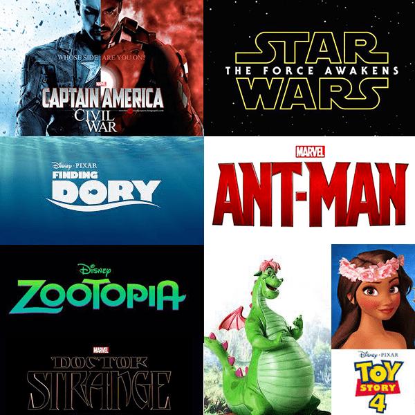 disney movie slate through 2019