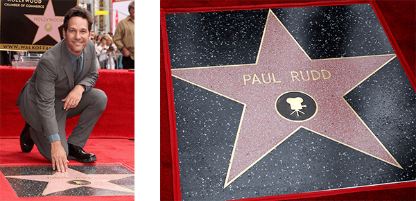 ANT-MAN's Paul Rudd Receives Star on the Hollywood Walk of Fame