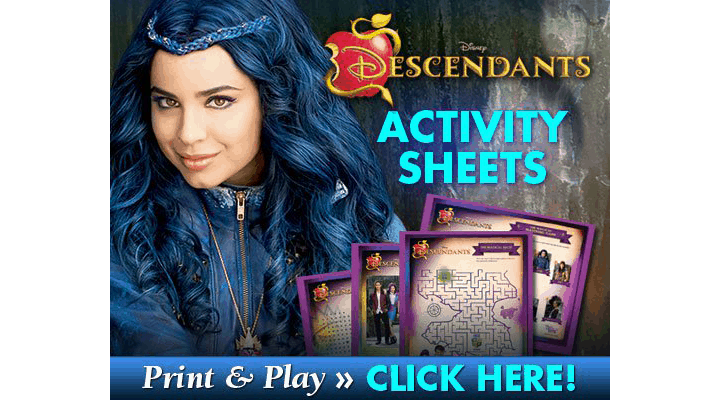 Get FREE Descendants Activity Sheets