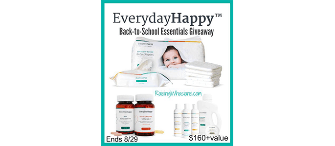 EverydayHappy Back-to-School #Giveaway ends 8/29
