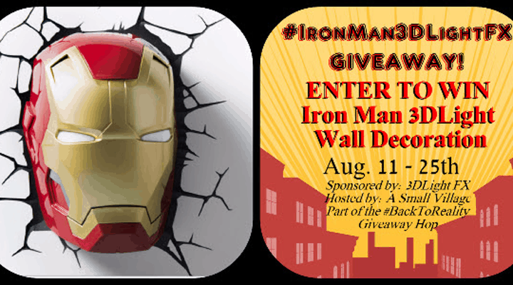 Iron Man 3DLight FX #Giveaway ends 8/25