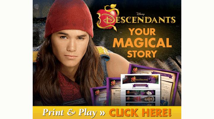 Disney Descendants on DVD Plus Activity Sheets