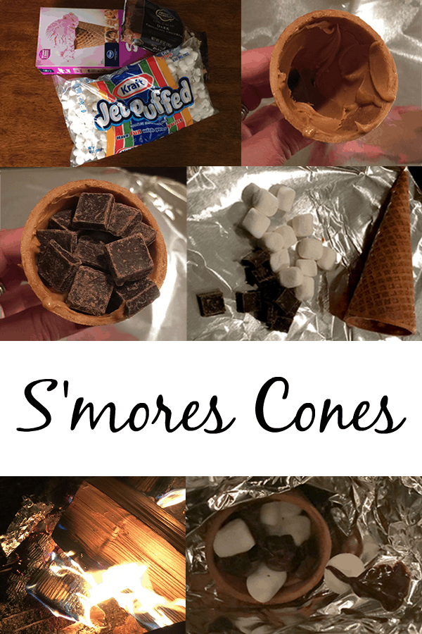 S'mores Cones for National S'mores Day