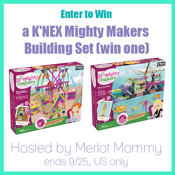 Enter to Win K'NEX Mighty Makers Deep Sea Dive Building Set #Giveaway ends 9/25