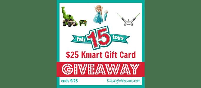 $25 Kmart Gift Card #Giveaway ends 9/28