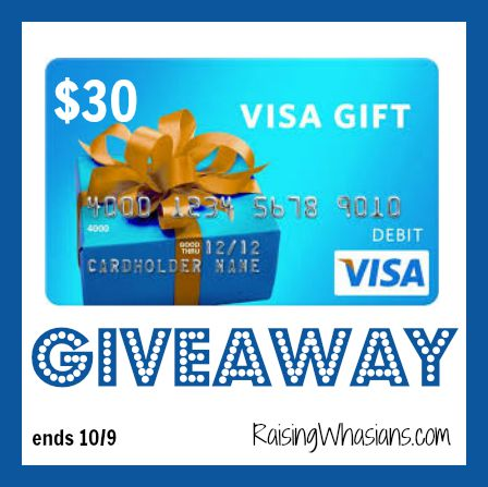 Enter to Win a $30 Visa Gift Card Giveaway ends 10/9