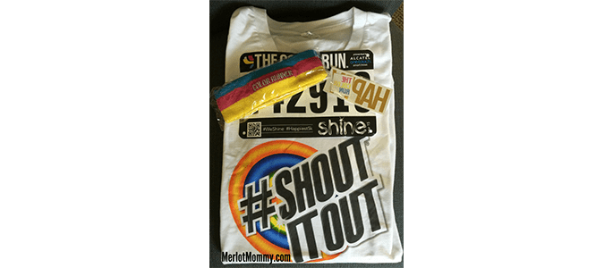 Join me at the Color Run in Portland on September 12 #ShoutItOut