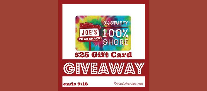 Joe's Crab Shack #Giveaway ends 9/18