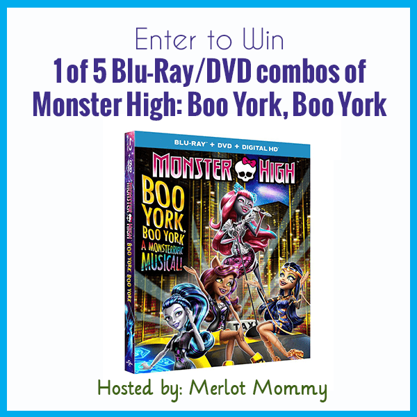 Enter to win MONSTER HIGH: BOO YORK, BOO YORK #Giveaway ends 9/28