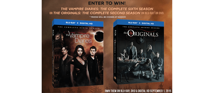 Enter to Win The Vampire Diaries Season 6 OR The Originals Season 2 #Giveaway ends 9/13