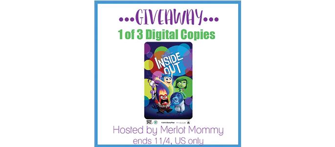 Enter to Win a Digital Copy of Disney • Pixar's Inside Out #giveaway ends 11/4