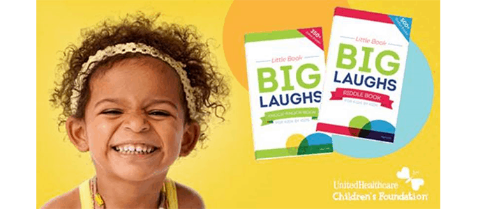 Buy a Children's Joke Book for $5.99 and Help Raise Funds to Help Families Pay for Child Medical Expenses #UHCCFjokes