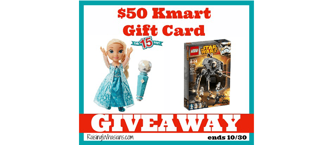Enter to Win a Kmart $50 Gift Card #Giveaway ends 10/30