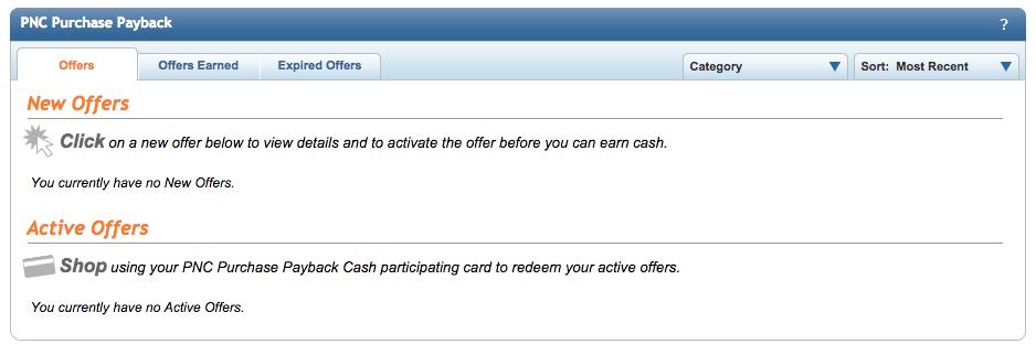 Save with PNC Purchase Payback Rewards Program