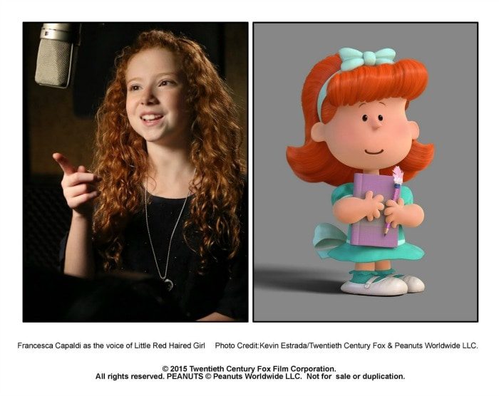 Interview with Francesca Capaldi The Little Red-Haired Girl in The Peanuts Movie