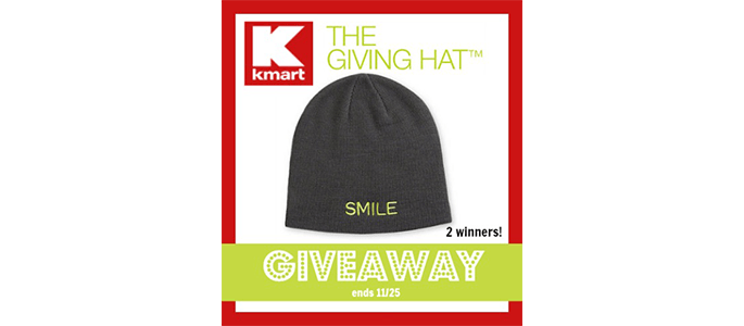Kmart The Giving Hat #Giveaway ends 11/25