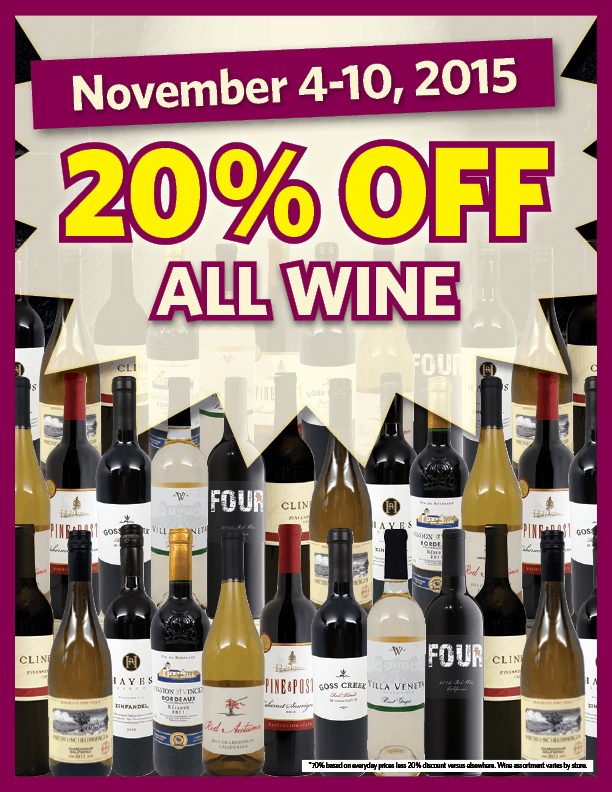 Stock Up at Grocery Outlet's Semi-Annual Wine Sale
