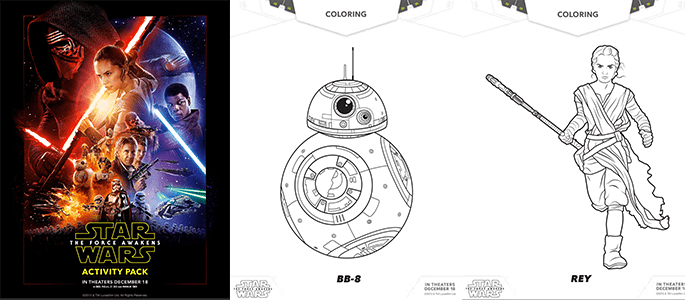 Star Wars Activity Sheets and Coloring Pages + Other Star Wars Ideas