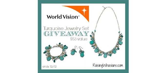 World Vision Turquoise Jewelry Set #Giveaway ends 12/9