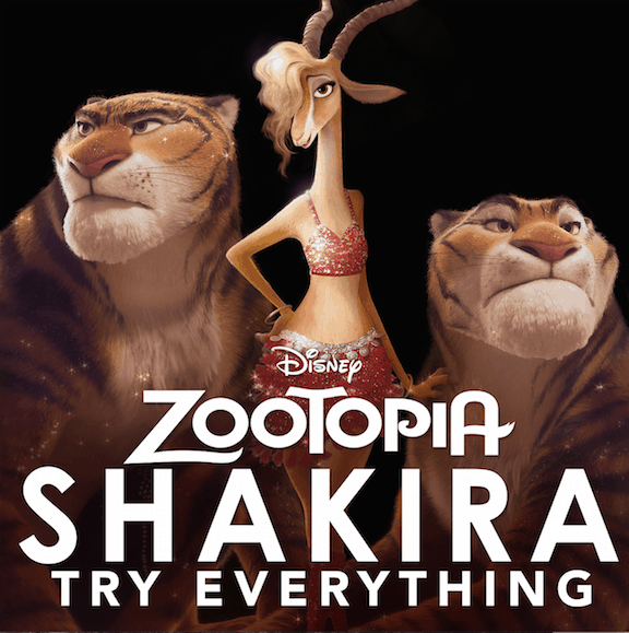 """Disney's ZOOTOPIA New Song """"Try Everything"""" by Shakira Now Available on iTunes"""