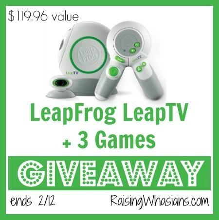 Giveaway: LeapFrog LeapTV ends 2/12
