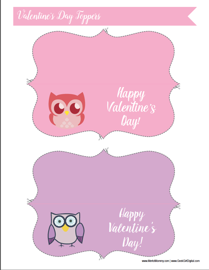 Valentine's Day Treat Toppers
