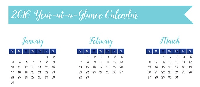 2016 year at a glance calendar 30 days of free printables whisky