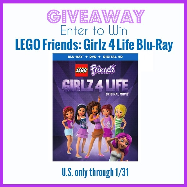 Giveaway: LEGO FRIENDS: Girlz 4 Life Blu-ray ends 1/31