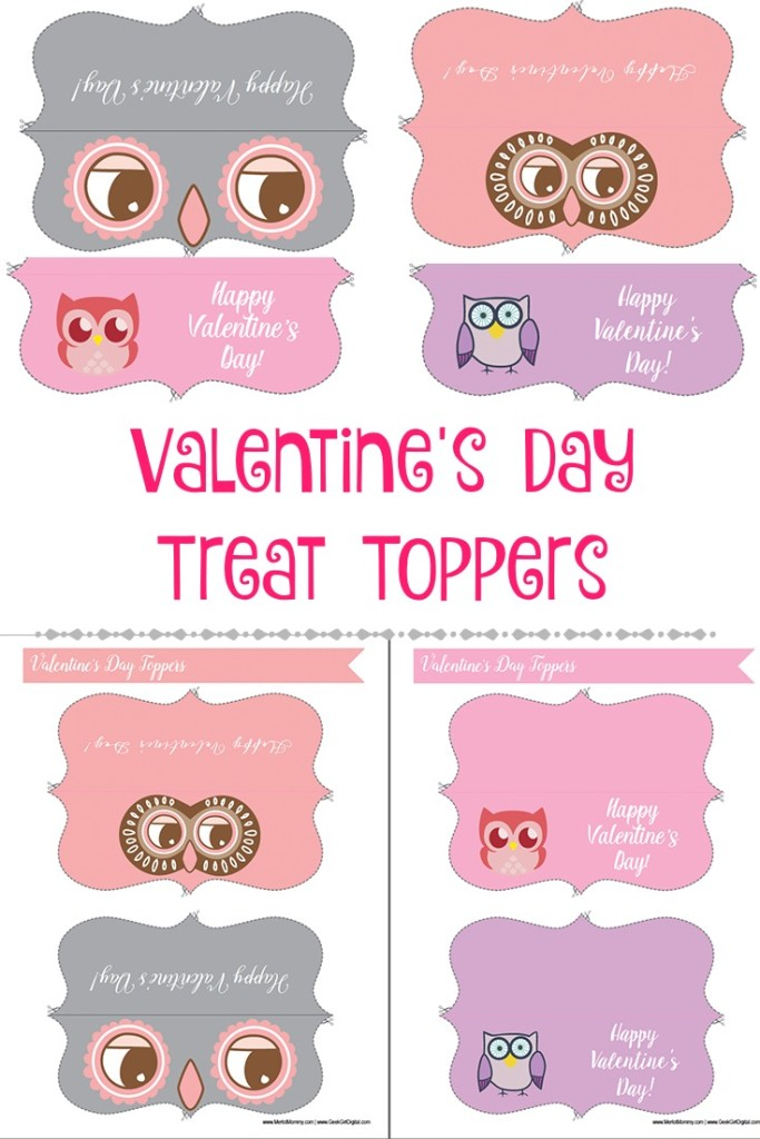 Valentine's Day Treat Toppers: Free Printables