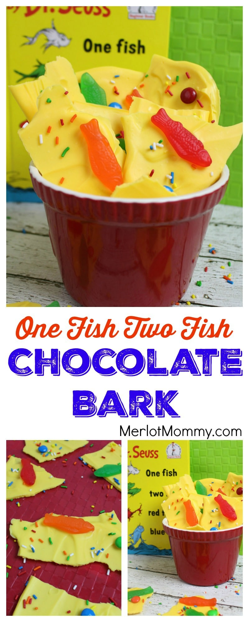 One Fish Two Fish Chocolate Bark Dr. Seuss-Inspired Recipe | Whisky ...